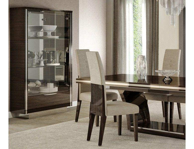 Giorgio Bell Modern Dining Table Set in 2020 | Black dining room .