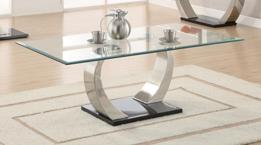 LIVING ROOM: GLASS TOP OCCASIONAL TABLES - Contemporary Coffee .