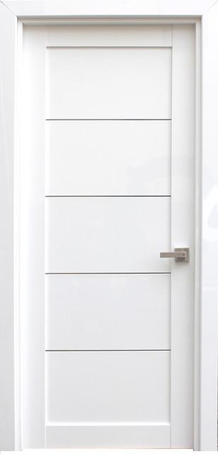 ELDORF White Lacquered Modern Interior Door - Contemporary .
