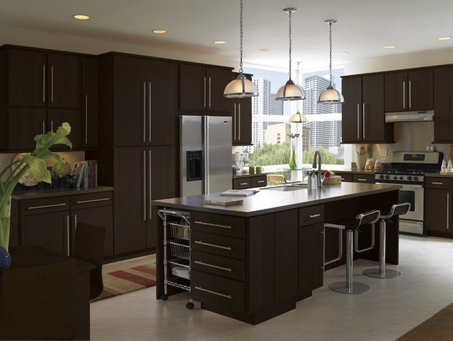 espresso kitchen cabinets | dark espresso cabinets modern .