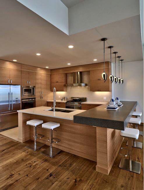 30 Elegant Contemporary Kitchen Ideas | Interior design kitchen .