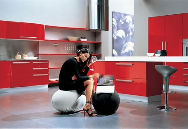 75 Plus 25 Contemporary Kitchen Design Ideas, Red Kitchen Cabinets .