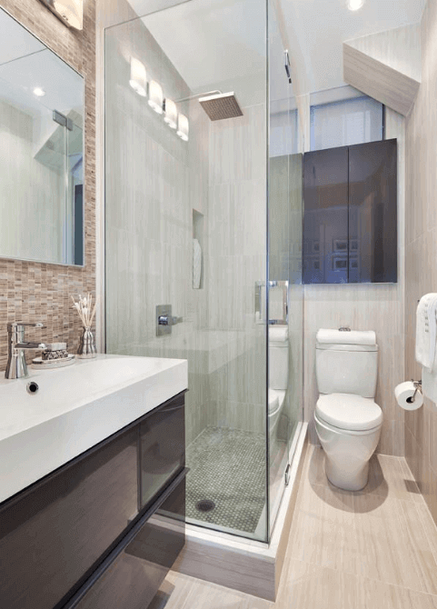 37+ Comfortable Small Bathroom Design and Decoration Ide