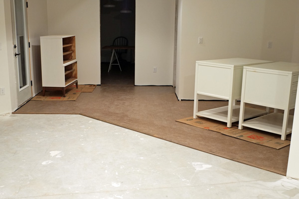 How I Saved Over $700 on Cork Flooring for the Baseme