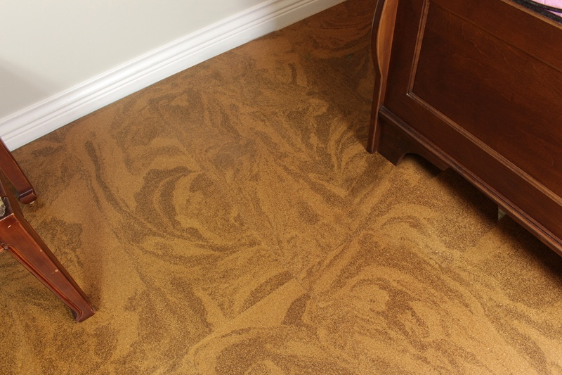 cork flooring planks caramel swirl basement - Cancork Flo