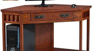 Amazon.com: Leick Corner Computer and Writing Desk, Mission Oak .