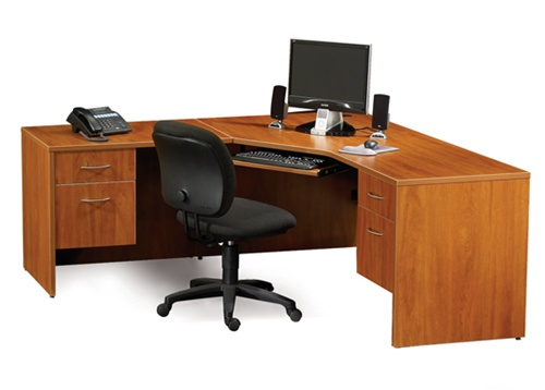 "Maverick Desk MMCD72 Computer Corner Desks 72"" x 72"" w/ Box File ."