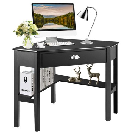 Costway Corner Computer Desk Laptop Writing Table Wood Workstation .