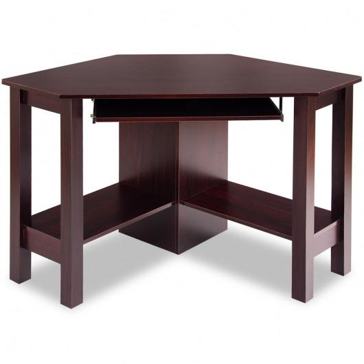 Wooden Study Computer Corner Desk with Drawer - Desks - Office .
