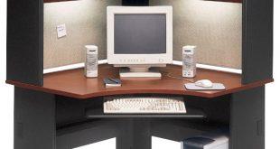 "Bush Business Series A 48"" Corner Computer Hutch Desk in Hansen ."