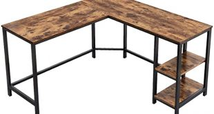 Amazon.com: VASAGLE Industrial L-Shaped Computer Desk, Corner Desk .