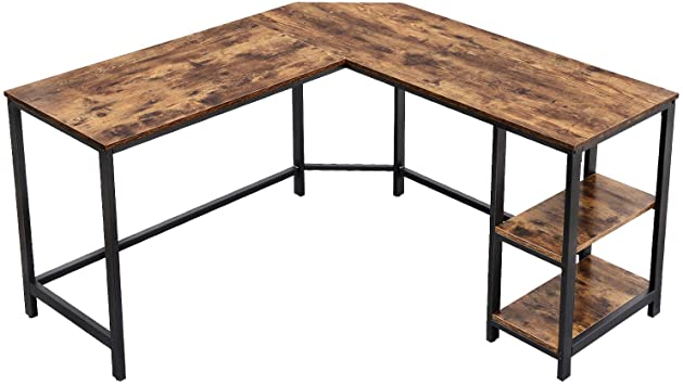Amazon.com: VASAGLE Industrial L-Shaped Computer Desk, Corner Desk .