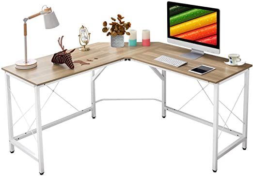 "Amazon.com: Mr IRONSTONE L-Shaped Desk 59"" Computer Corner Desk ."