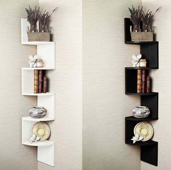 5 Tier Corner Shelf Floating Wall Shelves Storage Display | Et