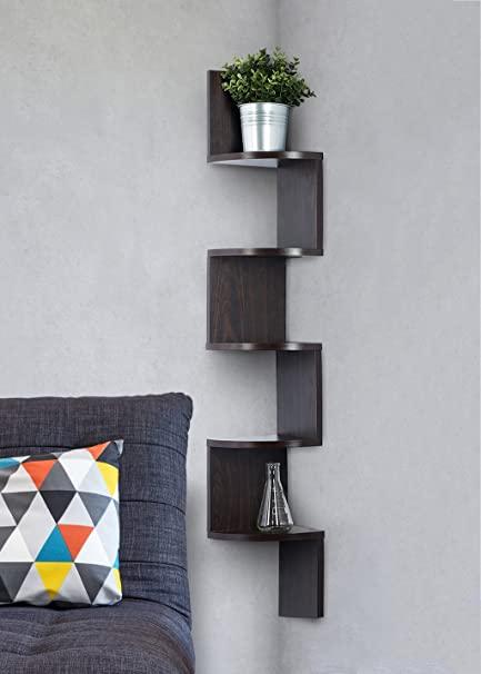 Amazon.com: Corner shelf - Espresso Finish corner shelf unit - 5 .