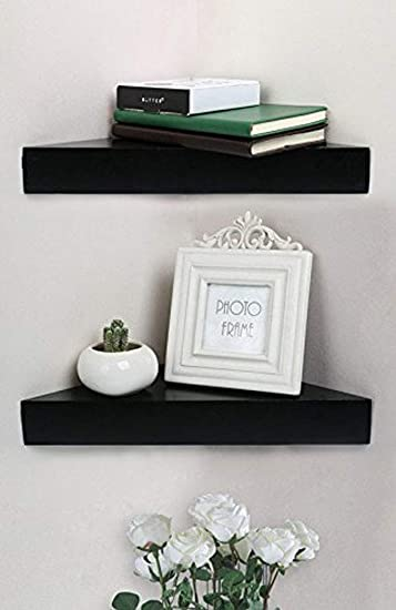 Amazon.com: Shelving Solution Corner Wall Shelf, Set of 2 (Modern .