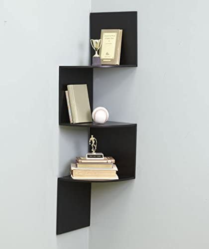 Amazon.com: Black Wall Corner Shelf Unit: Home & Kitch