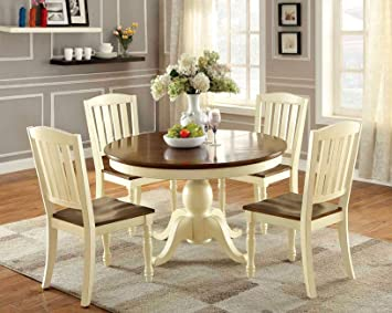 Amazon.com - Furniture of America Pauline 5-Piece Cottage Style .