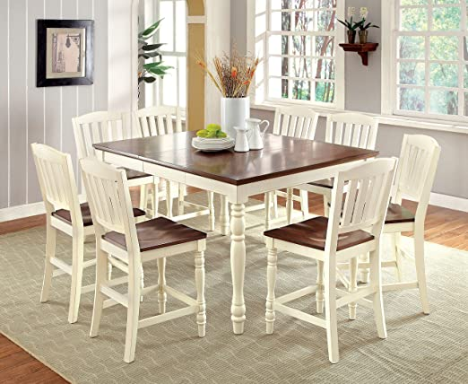 Amazon.com - Furniture of America Pauline 9-Piece Cottage Style .