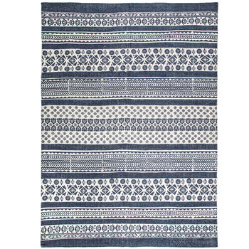 Blue & White Patterned Cotton Rug | Hobby Lobby | 14714
