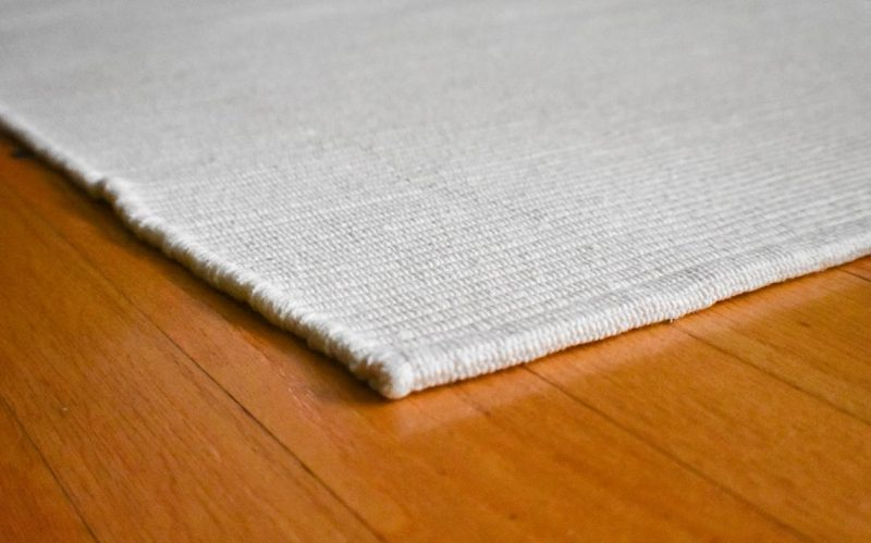Solid White Flatweave Eco Cotton Rug - Hook & Lo