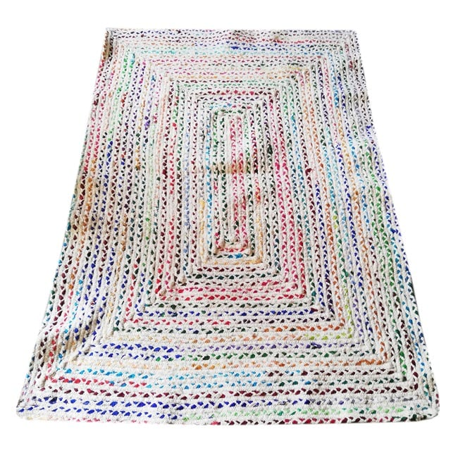 Multicolor Area Rugs Traditional Chindi Christmas Rugs Cotton Rugs .