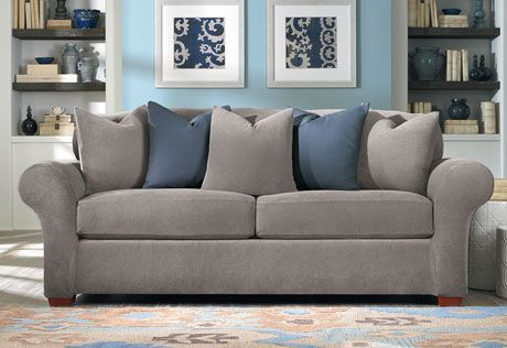 Stretch Piqué Three Piece Loveseat Slipcover | Form Fit | Machine .