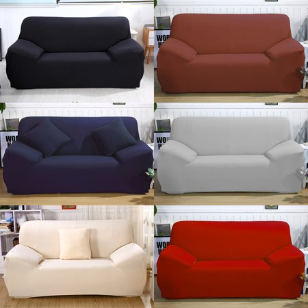 Loveseat Cover - L Shape Stretch Fabric Sofa Furniture Slipcover .
