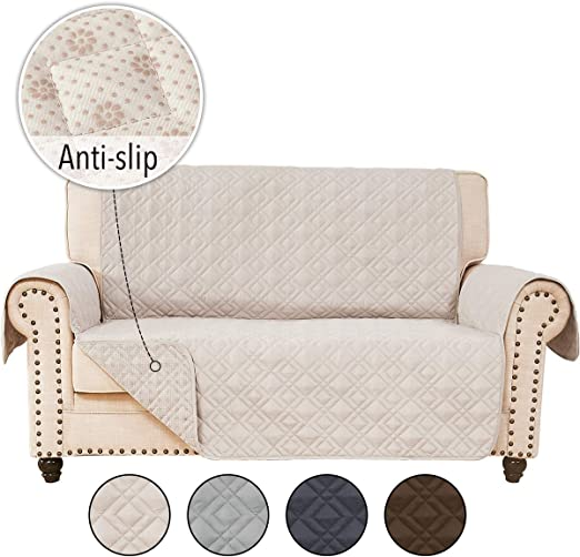 Amazon.com: RHF Anti-Slip Loveseat Covers for Leather Sofa, Couch .