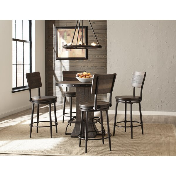 Gracie Oaks Cathie 5 Piece Round Counter Height Dining Set .