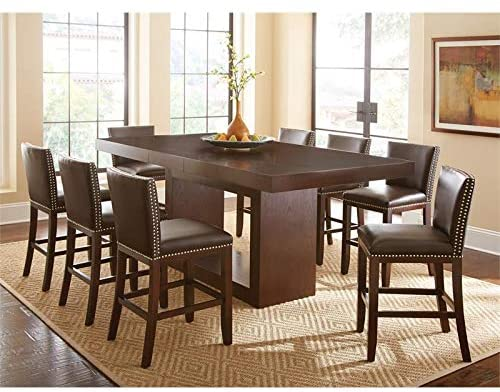 Amazon.com: Antonio Deep Cherry 9-Piece Counter Height Dining Set .