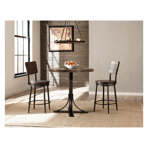 3pc Jennings Counter Height Dining Set With Swivel Counter Height .