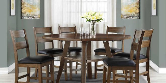 Square to Round 7-piece Counter-Height Dining S