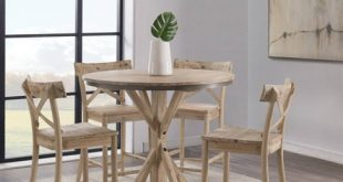 Keaton Round Counter Height Dining Table Beach - Picket House .