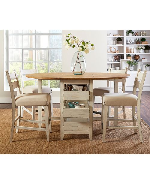Furniture Neighbors Drop Leaf Counter Height Dining Furniture .