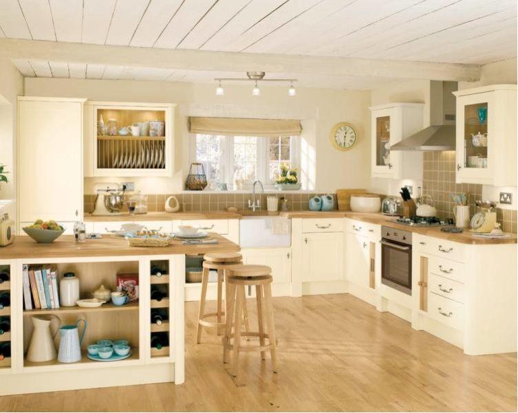 kitchen cream white grey | Country kitchen, Kitchen design .