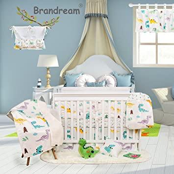 Amazon.com : Brandream Dinosaur Crib Bedding Sets for Boys with .