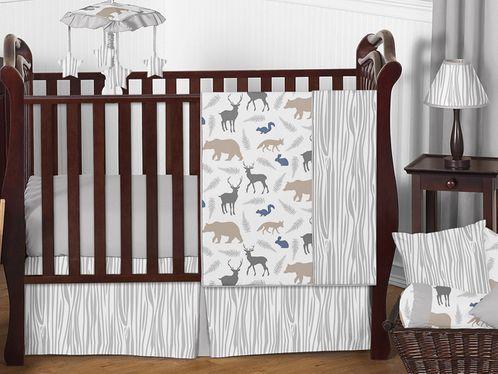 Woodland Animals Baby Bedding - 11pc Crib Set by Sweet Jojo .