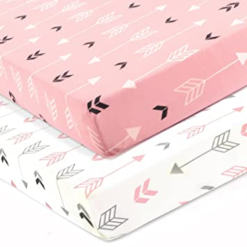 Amazon.com : Stretchy Fitted Crib Sheets Set-Brolex 2 Pack .