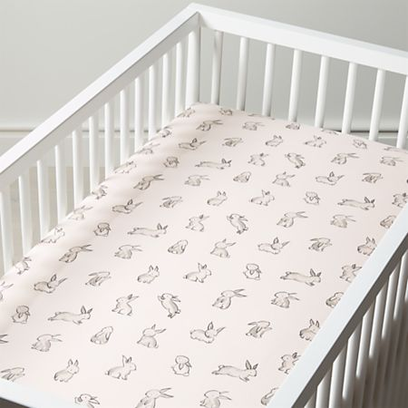 Bunny Crib Sheet + Reviews | Crate and Barr