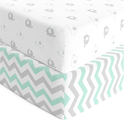 Amazon.com : Cuddly Cubs Fitted Crib Sheets Set – 2 Pack – Jersey .