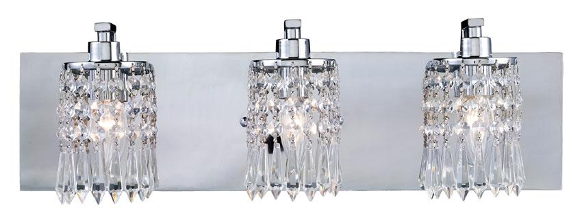 ELK 11230/3 Optix 3 Lamp 21 Inch Wide Crystal Bathroom Vanity .