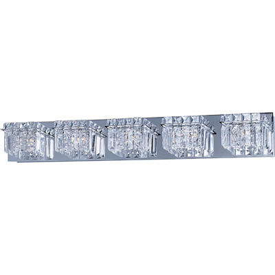 ET2 E2325520PC Bangle Modern 5-light Crystal Bathroom Lighting .