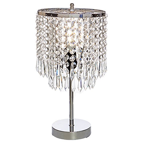 POPILION Elegant Decorative Chrome Living Room Bedside Crystal .