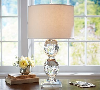 Carlotta Faceted Crystal Table Lamp Base | Room lamp, Bedroom .