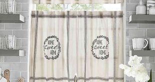 Home Sweet Home Kitchen Window Curtain Tiers and Valance | Bed .