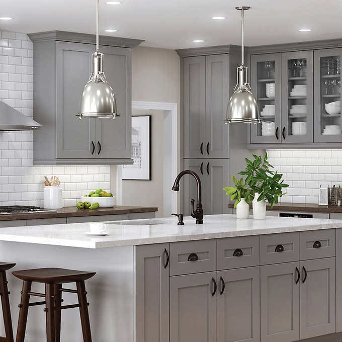 Semi-Custom Kitchen and Bath Cabinets by All Wood Cabinetry .