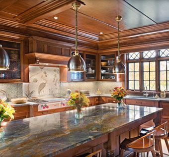 Custom Traditional Kitchen Cabinets by Cabinetmaker Birdie Miller .