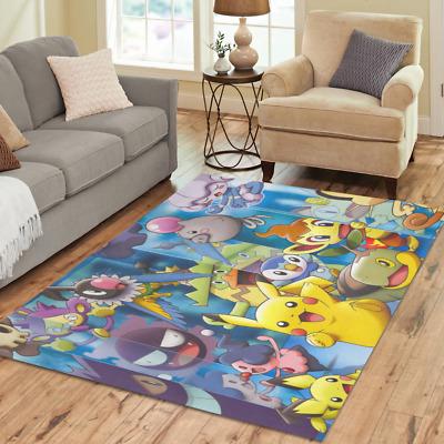 New Pokemon Home Mat Custom Rugs Area Rug Decorative Floor Rug .