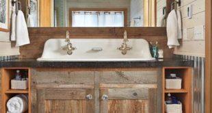 Repurposed Bathroom Vanity | Rustic bathroom designs, Bathroom .